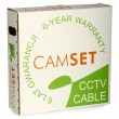 CCTV cable: CAMSET 100 PE 75-0.59/3.7+2x1.0 [100m] (92% braid coverage, 2 power wires up to 230VAC)