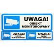 Video Surveillance Signs: UWAGA OBIEKT MONITOROWANY (PL)